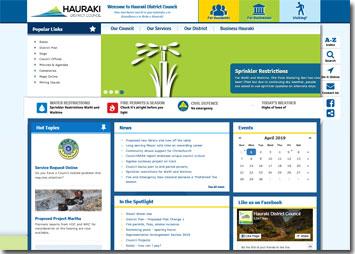Hauraki District Council main website